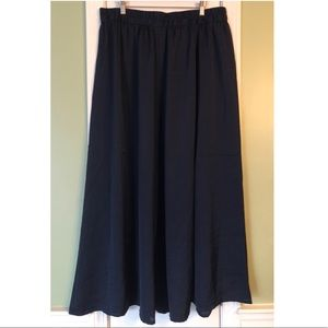 Lane Bryant Skirts - Lane Bryant Navy Blue Silky Stretch Maxi Skirt